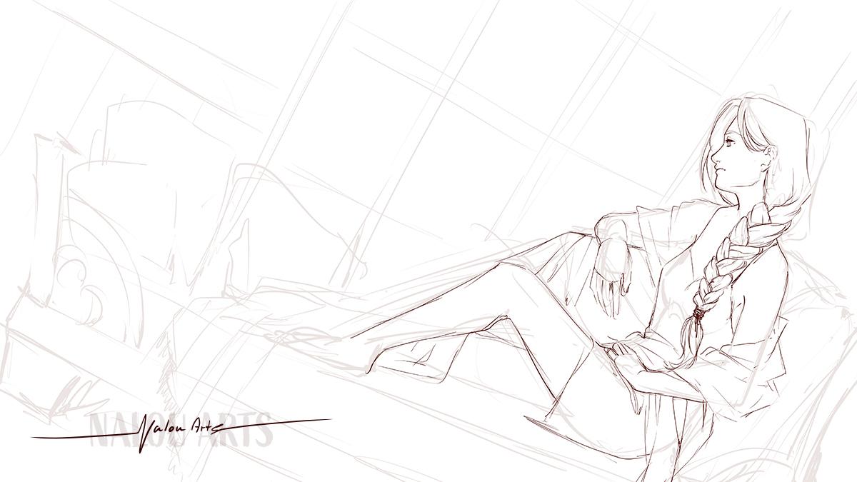 nalou_arts_gaze_sketch